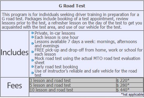 road test mississauga